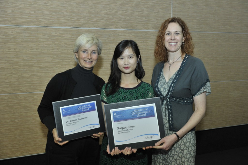 Dr. Shen with her AWWA Award for Doctoral Dissertation.