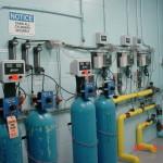 chlorine gas set-up