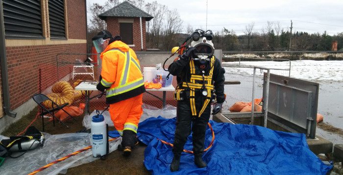 photo of potable water dive preperation