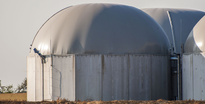 photo of a biogas digester