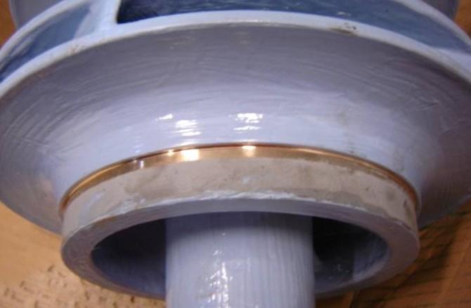 coated pump impeller