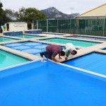 afixing pool covers
