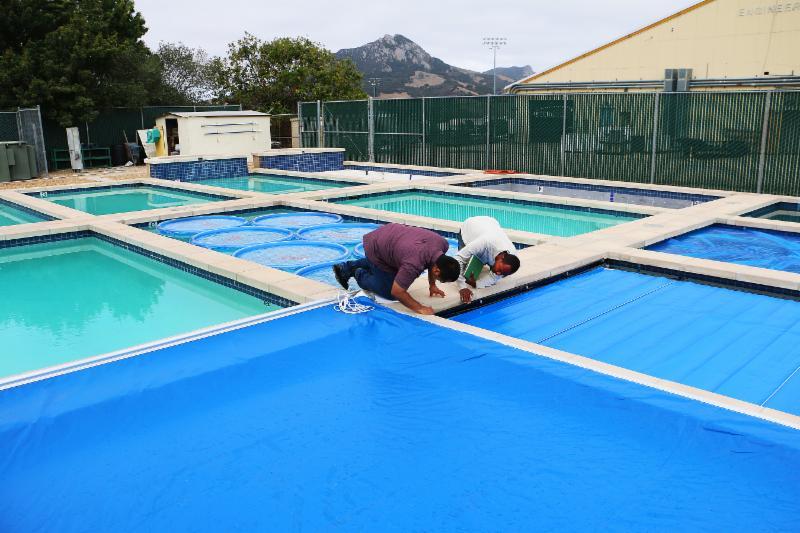 afixing pool covers