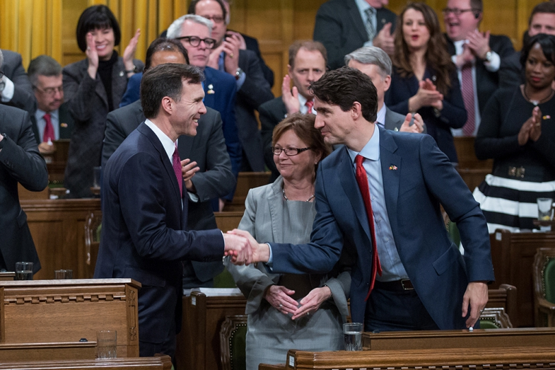 Prime Minister Justin Trudeau attends the Budget Speech delivered by the Minister of Finance in the House of Commons. Photo by Adam Scotti, Prime Minister's Office.