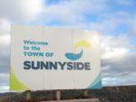 sign welcoming people to the Town of Sunnyside