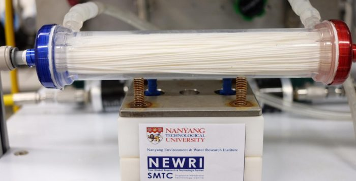 close-up of the nanofilter