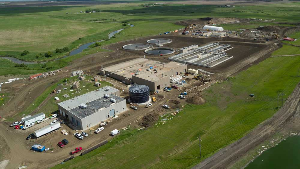 A construction photo of the City of Regina's wastewater treatment plant. Photo from the City of Regina.