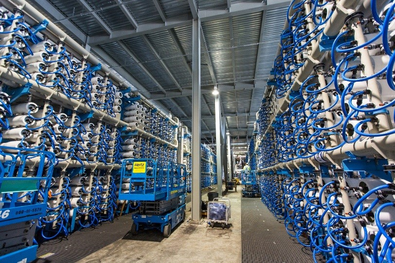 Interior – Carlsbad desalination plant