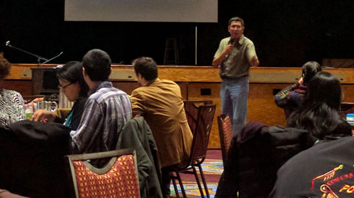 Chief Peigan at Indigenous Water Forum