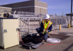 municipal wastewater treatment sampling station