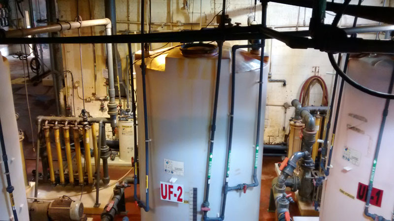 The installed reverse osmosis system