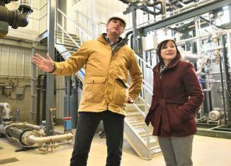 touring the Lethbridge Biogas facility