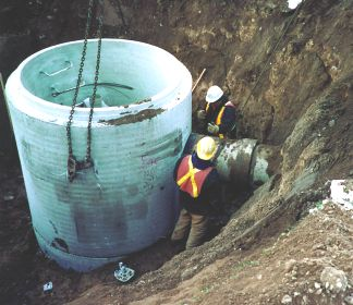 Recycled concrete pipe services fuel depot - Environmental