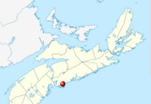 Map showing Harrietsfield, Nova Scotia
