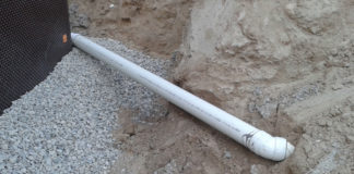 plastic pipe bedding backfill