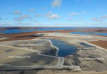 Tundra Mine remediation site