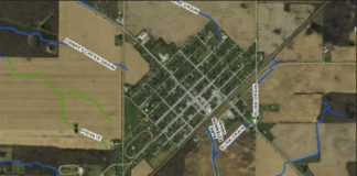 Map of drains in Chatham-Kent