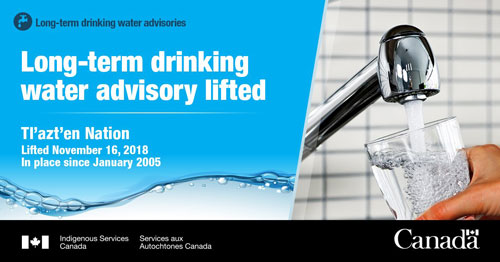 Tl'azt'en Nation drinking water advisory lifted