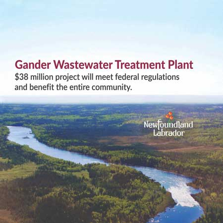 New Gander wastewater treatment plant