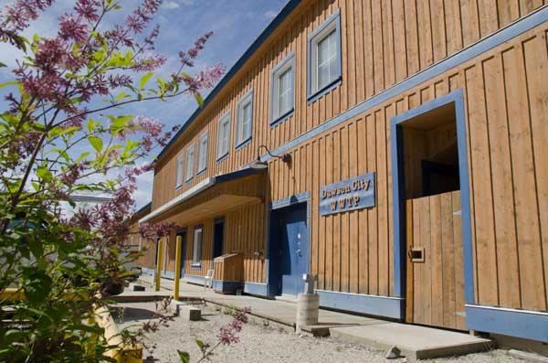 Dawson City wastewater treatment plant exterior