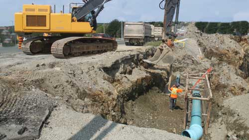 water construction site