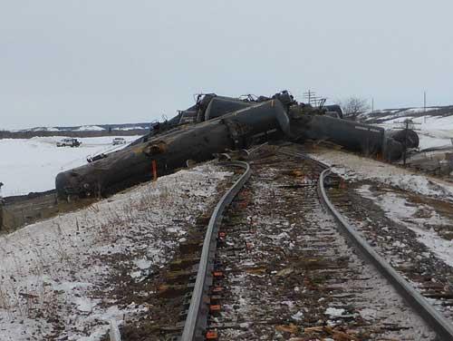 Manitoba train derailment