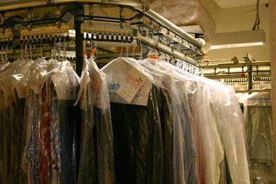 dry clean rack