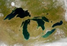 Great Lakes viewed from space