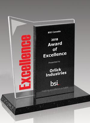 BSI Canada Award of Excellence