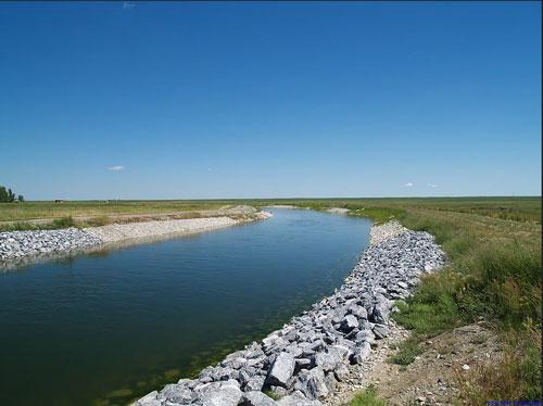 rehabilitated irrigation canal