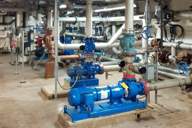 Upgraded pump room Corbett Creek Water Pollution Control Plant