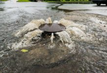 Storm-event-causing-sewer-overflow-and-surcharging