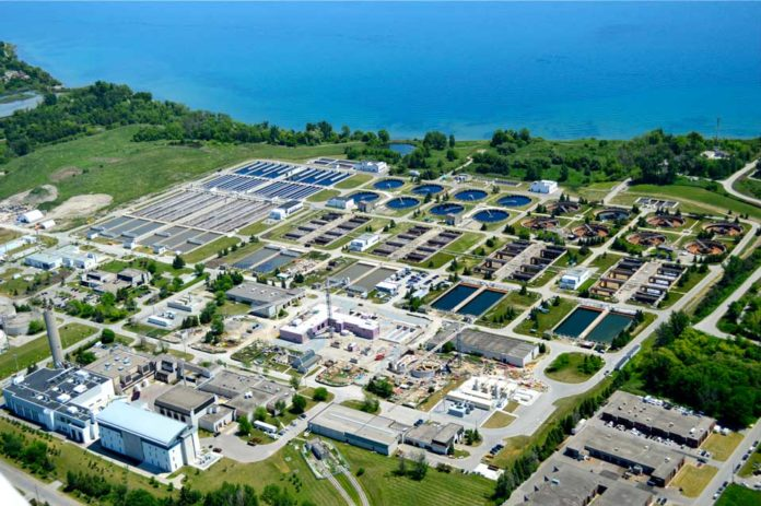 Aerial view of the Duffin Creek Water Pollution Control Plant
