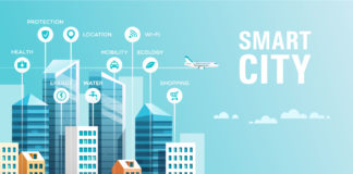 Smart city graphic illustration