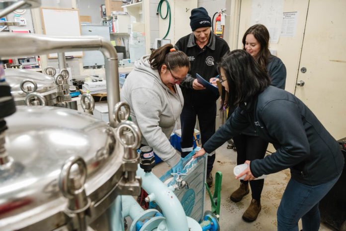 Chippewas of Nawash Unceded First Nation water system operators work with WCWC