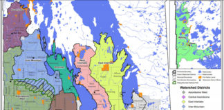 Manitoba's Watershed Districts Map