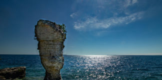 Flowerpot Island in Lake Huron