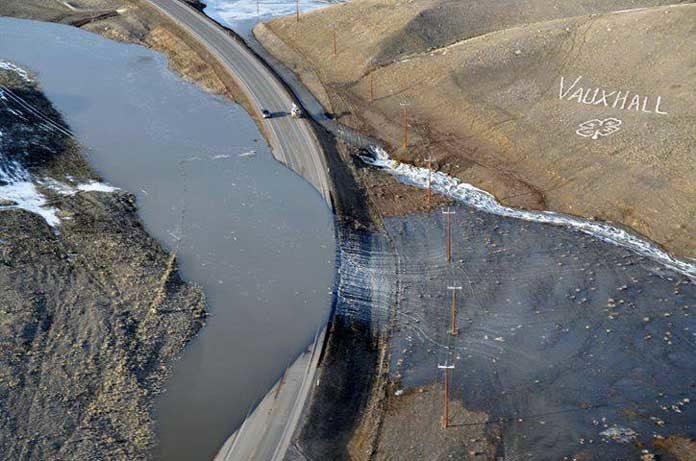 flooding in Taber Alberta