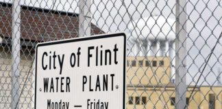 Flint Water Treatment Plant sign