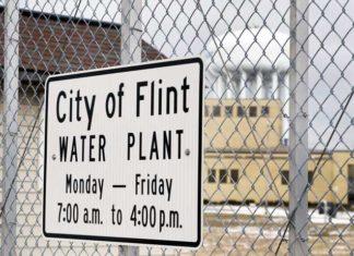 Flint Water Treatment Plant sign
