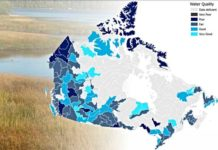 Canada water quality map