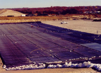 landfills synthetic clay liners