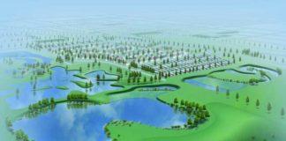 Coaldale stormwater wetland rendering