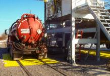 loaded tanker truck