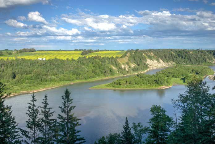 North-Saskatchewan-River-stock-image