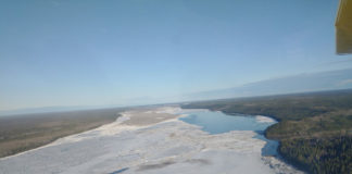 ice on the Martin River