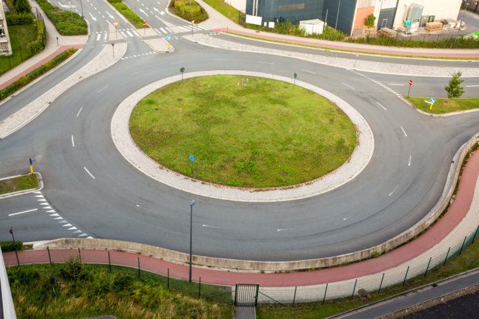 traffic-roundabout-stock-image